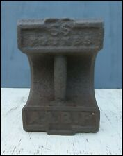 More details for vintage 56lb cast iron weight door stop marquee gazebo ballast