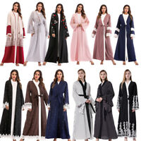 Dubai Muslim Women Open Abaya Cardigan Long Maxi Party Dress Kaftan Robe Jilbab
