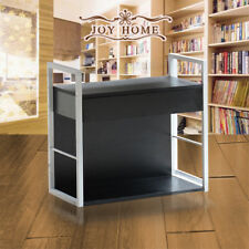 Bedside Cabinet Desk with Drawer Side Table Telephone Stand Steel Legs