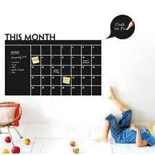 Wall Sticker DIY Monthly Planner Chalk Black Board Removable Calendar Decor Home