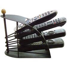 Soporte de control remoto de TV soporte metálico negro Caddy Organizador Rack como se ve en TV