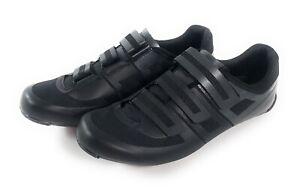 Pearl Izumi Quest Road Bike Cycling Spin Shoes Mens US 13 EU 47 Black W/ Cleats