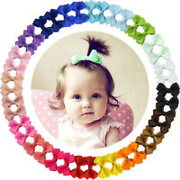 40pcs Boutique 2 Inch Hair Bows Fully Lined Clips for Baby Girls Toddler Infants