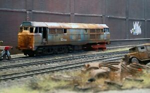 OO heavily rusted and weathered scrapyard Class 31 diesel loco. Ref 2