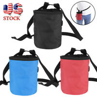 Outdoor Chalk Bag Rock Climbing Magnesium Powder Pouch Adjustable Belt Gym Bag