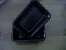 100 x Deep Rectangle Black Ovenable/Microwavable Dishes
