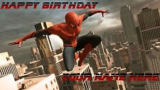 Birthday banner Personalized 4ft x 2 ft  Spiderman
