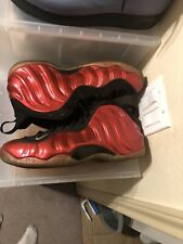 "2012 Nike Air Foamposite One ""Metallic Red"" Size 13 BLACK VARSITY 314996 610"