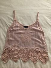New Look Pink Crochet Cami Breastfeeding Top Size Medium
