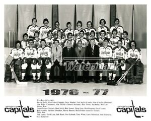 NHL 1976 - 77 Washington Capitals Team Picture with Names 8 X 10 Photo Picture
