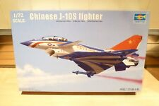 TRUMPETER 1/72 CHINESE J-10S FIGHTER JET, UNMADE MODEL KIT.