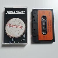 JUDAS PRIEST ROCKA ROLLA CASSETTE TAPE 1974 ORANGE PAPER LABEL MILAN RECORDS