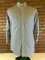 BROOKS BROTHERS 1818 Striped Button Down Non Iron Shirt Tag size 17 / 33 XL
