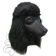 Latex Full Head Popular House Pet Black Poodle Dog Fancy Dress Up Party Masks