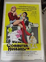 Vtg 1 sht 27x41 Movie Poster Commuter Husbands 73 Gabrielle Drake Sexploitation