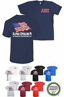 Alpha Epsilon Pi Fraternity Bella+Canvas American Flag USA Shirt AEPI