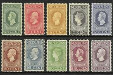 Netherlands 1913 - 100 Years Independence - Jubilee stamps - unused 10 values