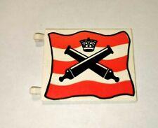 LEGO® Piraten Soldaten Rotrock Rotröcke Fahne groß 6x4 rot weiß Kanonen