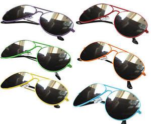 Unisex Fashion Women Mens Sunglasses Full Mirror Mirrored Mirror Tint Avitor