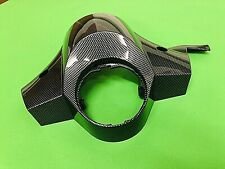 VESPA CARBON LOOK HEADSET TOP FITS FRONT DISC BRAKE MODELS PX 125 TO 200 DISC