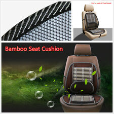 Car Bamboo Mesh Seat Cushion Waist Massage Lumbar Brace Back Seat Cover Pad New