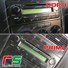 fiat punto ADESIVI tasti stereo decal sticker cover nero opaco APA / carbonlook