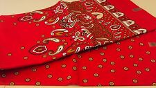 African Ankara Wax 100% Cotton Print for Dress Making & Craft- 6 Yards / Red