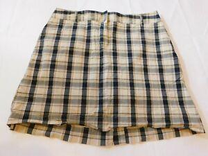Izod Golf Skirt Skort Natural Stretch Women's Ladies Size 6 khaki Plaid GUC