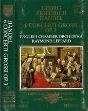Händel English Chamber Orch, R Leppard 6 Concerti Grossi CASSETTE ALBUM BAROQUE