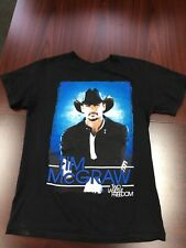 Tim Mcgraw Two Lanes Of Freedom tour 2013 T Shirt Small Black