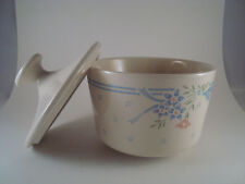 Corelle Creamer and Sugar Bowl Set Symphony pattern Ivory and Blue