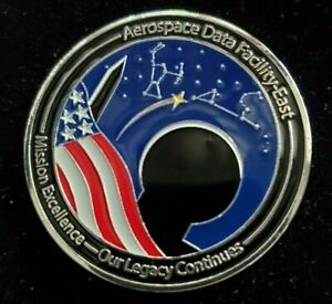 Rare NRO National Reconnaissance Office Data Facility East Challenge Coin
