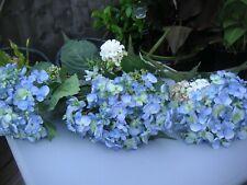 """artificial - hydrangea mop heads x 3 - blue - 28"""" tall - great items"""