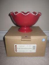 Longaberger 2005 Sweetheart Be My Valentine Valentines Ruffled Bowl Dish Pottery