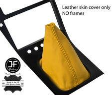 YELLOW TOP GRAIN REAL LEATHER GEAR GAITER FITS S13 240SX 200SX 180SX 1988-1993