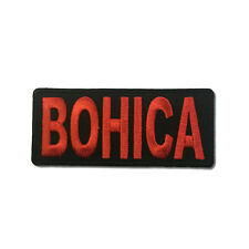 BOHICA Bend Over Here It Comes Again Sew or Iron on Patch Biker Patch