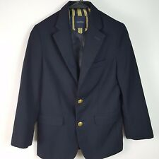 NAUTICA Boys Kids Navy Blue Suit Jacket Dressy Sz 8 Regular AS48