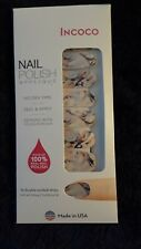 INCOCO Real Nail Polish ~ Masterpiece ~ White with Purple Blue & Pink Pastel