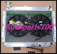 For TOYOTA LANDCRUISER Radiator + Fans 60 Series HJ60 HJ61 HJ62 Manual Aluminum