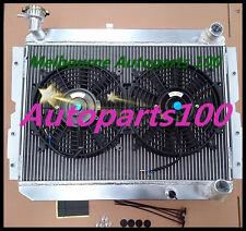 Aluminum Radiator + Fans for TOYOTA LANDCRUISER 60 Series HJ60 HJ61 HJ62 Manual