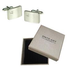 Mens Square Crystal Design Cufflinks & Gift Box By Onyx Art