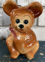 Adorable Vintage Royal Copley Pottery Teddy Bear Planter Figurine