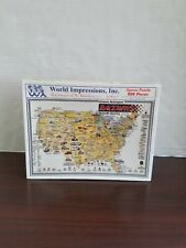 Brand New SEALED ~ World Impressions Raceways of North America 200 Piece Puzzle