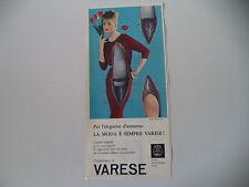 advertising Pubblicità 1960 SCARPE CALZATURIFICIO DI VARESE