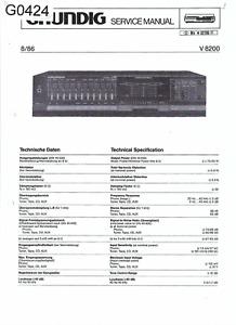 Grundig  Service Schaltplan für V 8200 Copy