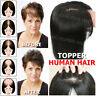 Women Clip in Remy India Human Hair Silk Top Topper Toupee Piece Hairpiece Wigs