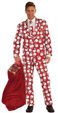 Mens Santa Suit Jacket Pants & Tie Christmas Party Costume Dress Fm72676