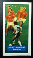 ARGENTINA - BOCA JUNIORS - DIEGO MARADONA Score UK football trade card - rare