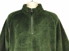 Nordstorm Large Men's Shop 1/4 Zip Super Soft Fleece Pullover in Green RN 58665