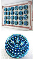 "24 Czech UNIQUE Glass Antique Buttons on Card #B335-14 mm or 1//2/"" 1920/'s"